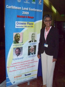 Ms Bellamy at the Caribbean Land Conference